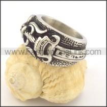 Vintage Stainless Steel Ring r001339