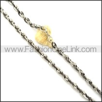Silver and Black Interlocking Necklace   n000358
