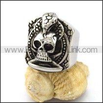 Exquisite Stainless Steel Skull Ring  r002903