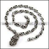 Wicked Skull Necklace n000748