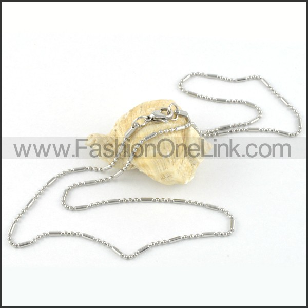 Silver Balls Plated Necklace  n000048