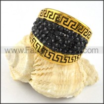 Great Wall Stainless Steel Rhinestone Ring r000235