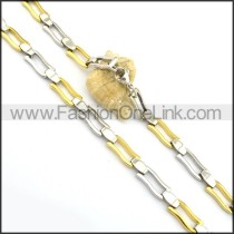 Two Tone Plated Necklace n000802