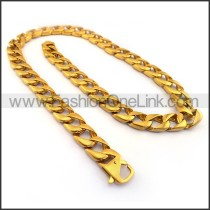 Interlocking Chain Plated Necklace n001130