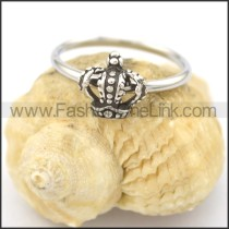 Graceful Stainless Steel Stone Ring  r002084
