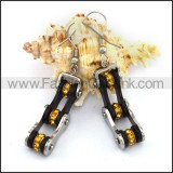 Fashion Stainless Steel Biker Earrings   e001132