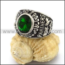 Vintage Stainless Steel Stone Ring   r003249