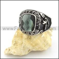 316L Vintage Stone Ring r000545