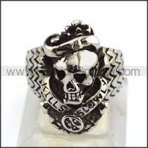 Stainless Steel Skull Ring   r003517