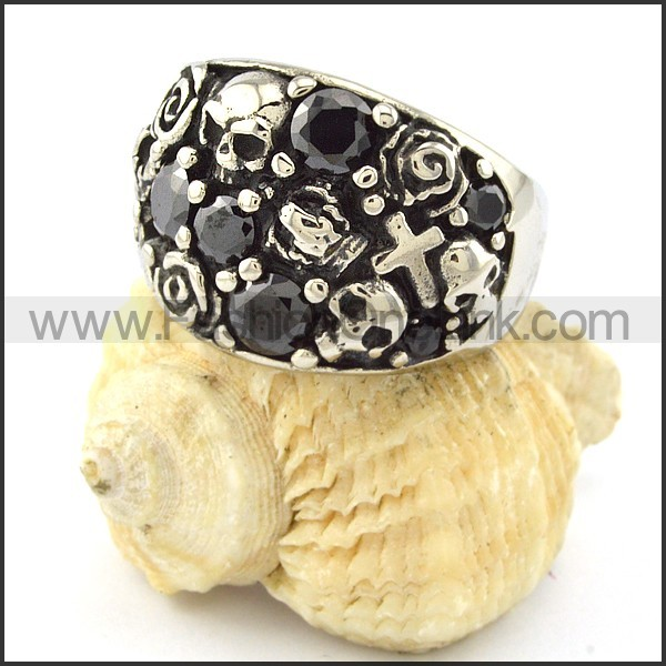 Stainless Steel Vintage Casting Ring r001059