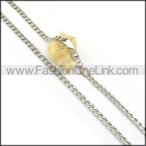 Delicate Silver Stamping Necklace n000604