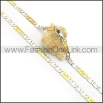 Silver and Gold Interlocking Plated Necklace n000913