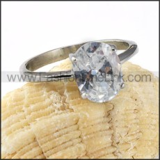 Stainless Steel Classic Eternity Style Wedding Ring r000023