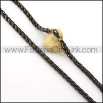 Graceful Black Plated Necklace    n000405