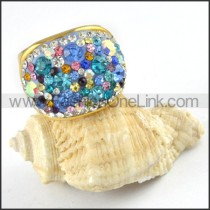 Stainless Steel Colorful Stone Design Ring r000242