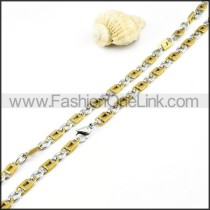 Succinct Two Tone  Necklace        n000007
