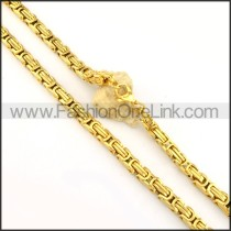 Succinct Golden Plated Necklace  n000153