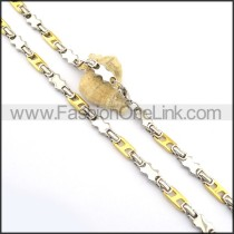 Exquisite Gold and Silver Plated Necklace n000757