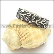Stainless Steel Branch Ring r000454