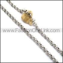 Interlocking Circle Rings Stamping Necklace n001022