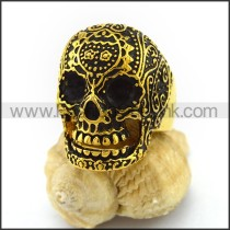 Stainless Steel Skull Ring r003015