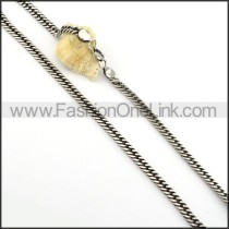 Succinct Silver Stamping Necklace      n000252