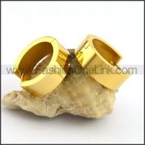 Succinct Golden Plated Earrings        e001073