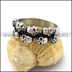 Delicate Stainless Steel Skull Ring  r003180