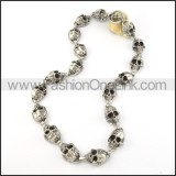 Delicate Skull Necklace       n000203