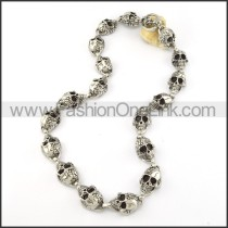 Delicate Skull Necklace       n000203