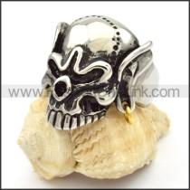 Stainless Steel Skull Ring r000478