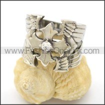 Unique Stainless Steel Casting Ring  r002517
