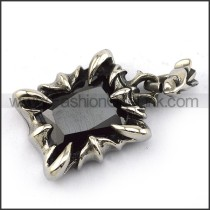 Prong Setting Stainless Steel Stone Pendant   p003909