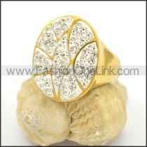 Exquisite Shiny Stone Stainless Steel Ring r002787