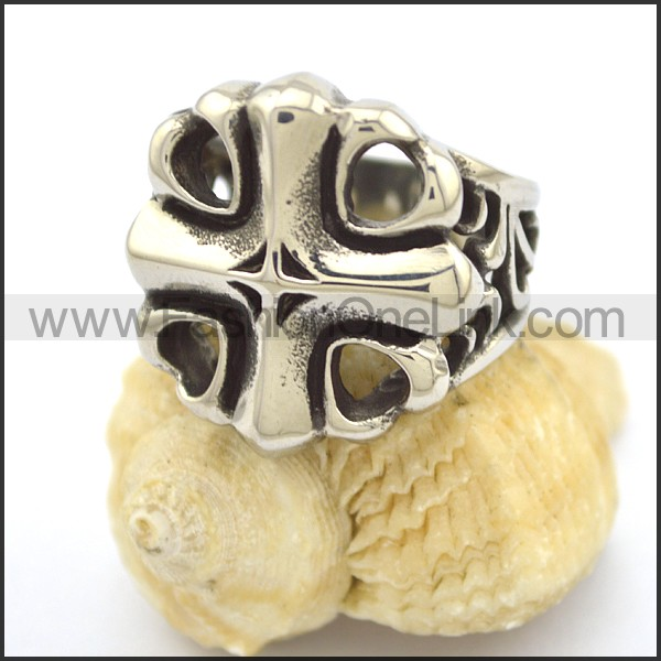 Delicate Vintage Stainless Steel Ring  r002310