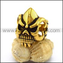 Stainless Steel Skull Ring  r003242