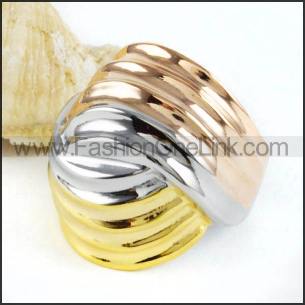 Stainless Steel Plated Ring Stack Ring  r000044