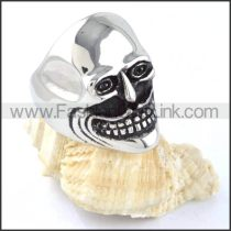 Stainless Steel Laughing Skull Ring r000299