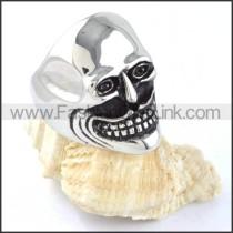 Stainless Steel Laughing Skull Ring r000299