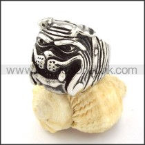 Punk Style Steel Mangy Dog Ring   r000518