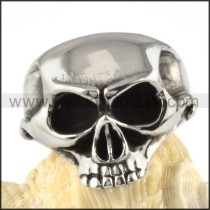 OX Nose Skull Stainless Steel Ring r000094