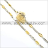 Exquisite Gold and Silver Plated Necklace n000774