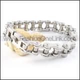 Exquisite Silver Biker Bracelet b000356