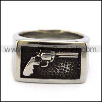 Stainless Steel Casting Gun Ring for Cowboys r004880