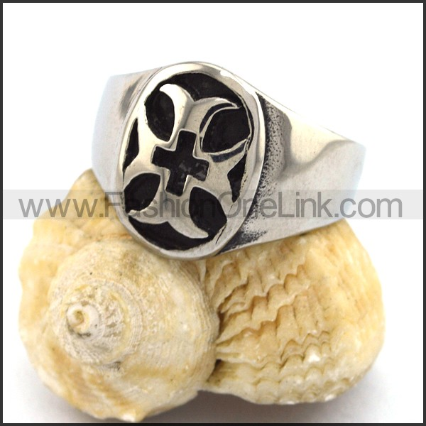 Stainless Steel Cross  Ring   r002814