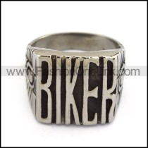 316L Stainless Steel BIKE Ring r003803