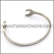 Silver Cutting Spanner Bangle b004578