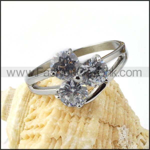 Delicate 316L Stainless Steel Zircon Promise Ring  r000029