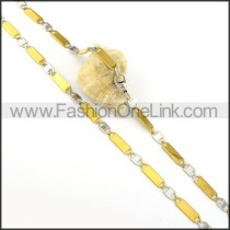 Chic Golden and Silver Plated Necklace    n000302