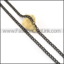 Black Plated Necklace n000648